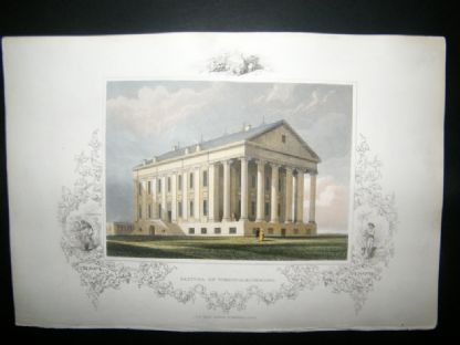 USA C1850 Hand Col Print. Capitol of Virginia, Richmond | Albion Prints
